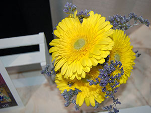 Bouquet of yellow gerbera daisy